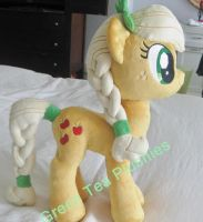 Crystal Apple Jack Pony Plush by GreenTeaCreations