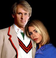 Fifth Doctor and Rose by LicieOIC