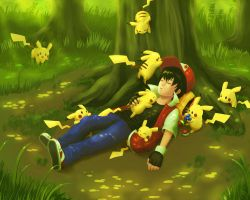 An Afternoon Nap in Viridian Forest by The-Blue-Wind