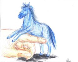 Horse and Hand by NewberryTiger