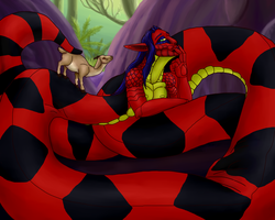 Snake Massage by SpidersVore