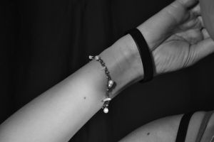 Hand with bracelet in B/W by FaggioMAG