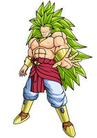 LSSJ3 Broly by brolyeuphyfusion9500