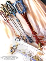 Keyblades by GingerAnne by GingerAnneLondon