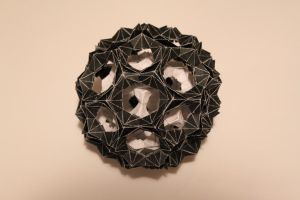origami buckyball in a buckyball by ivanglas