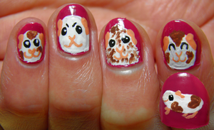 Piggie Nails by LuciaSeriin