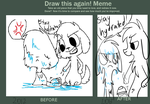 Before and After meme by SapphireMoonbrush