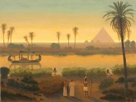 The Great Pyramid of Giza by Damnans
