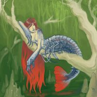 Bayou Mermaid by Aazure-Dragon