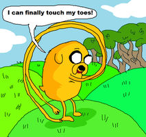 Jake the dog is the Elastic Waistband! by seriousdog
