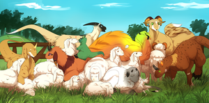 One big floofy family by MaraMastrullo