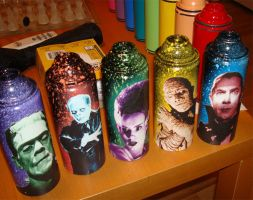 monster cans by AKAfred