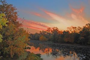 Sunrise the DesPlaines River by eyepilot13