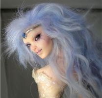 Opal Queen Faerie- face by wingdthing