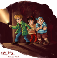 SILENT HILL: mystery-solving teens by katanisk