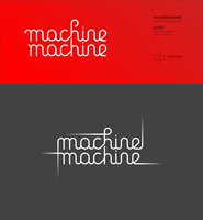 Machine Machine logotype by porcelainkid