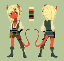 Character Design for obmeiste by CookieHana