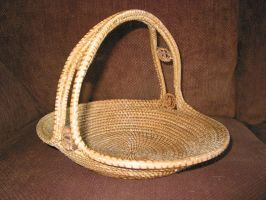 Pine Needle Basket by Gourdacopia