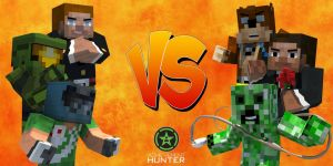 Achievement Hunter Versus Poster (Minecraft Style) by IISuperSlothII