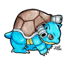 Blastoise - Commission - by Homishi