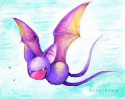 Zubat 41 watercolor by FireStump