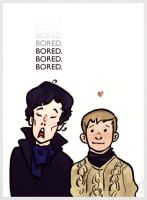 Bored Sherlock by kiwiisntfruit