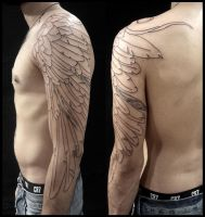 Extended half sleeve eagle wing by LucianoPezzoli