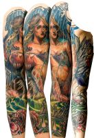 calli memorial sleeve by tattooneos