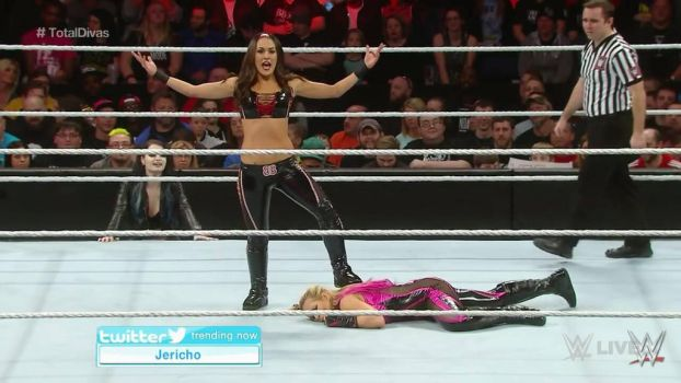 brie bella wwe victory pose by femdomknight