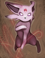 Leaping Espeon by Rawrkeeper