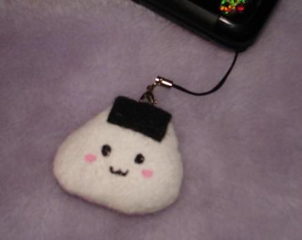 Onigiri Cell Phone Strap by Kittyportugal