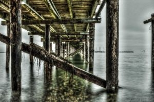 Under the pier (HDR) by jverm