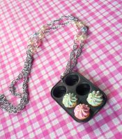 Your My Cupcake Necklace by Cuddlebugeeshi