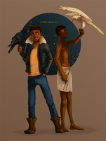 Bartimaeus Trilogy: The past and the present by Auro-Cyanide