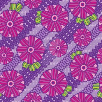 Purple Boho Blossoms by robyriker