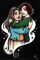 Lesbian Witches in Luuurve by rachelillustrates
