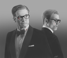 Kingsman noir by MargotG