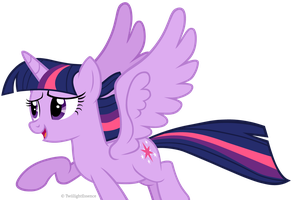 Twilight Sparkle Flying by TwiilightEssence