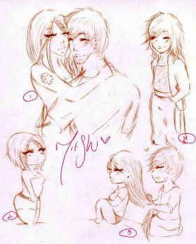 GS :: MitShi sketches by StrawberriOnTop