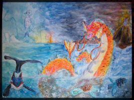 Gyarados - Wrath of the Titans by Embrymandre