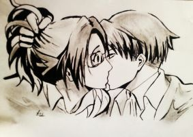 Levi and Hanji by canonclassicrock21