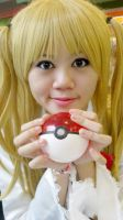 Misa with a pokeball! by Lawrielle21