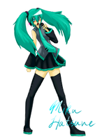 Miku Hatsune attempt o3o by Spottedfire-cat