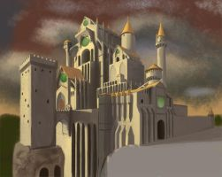Perspective Practice: Castle Thing by JaikArt
