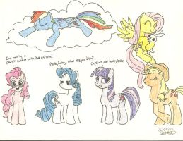 The Mane 6 by LBFable