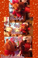 Rudolph and Clarice Plush! by BeautifulHusky