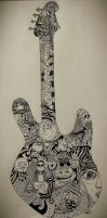 Guitar in doodle/abstract art by miss-marlies