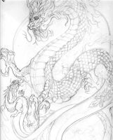Chinese Dragon and ...? -UC by biomechlizardchick