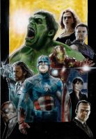 The Avengers  movie poster by DevonneAmos