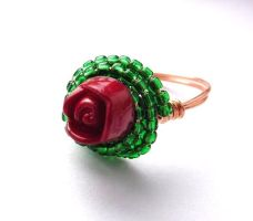 A Single Rose ring by sojourncuriosities